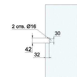 8500Kit-4 Набор петель под душ-гармошку