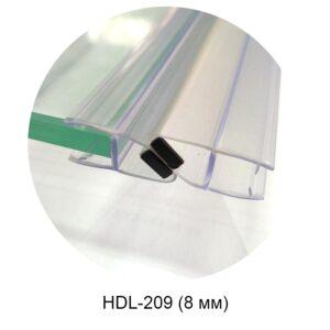 HDL-209 магнитный уплотнитель 8 мм (белый)