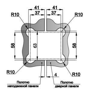 Петля HDL-303 (180°) PSS