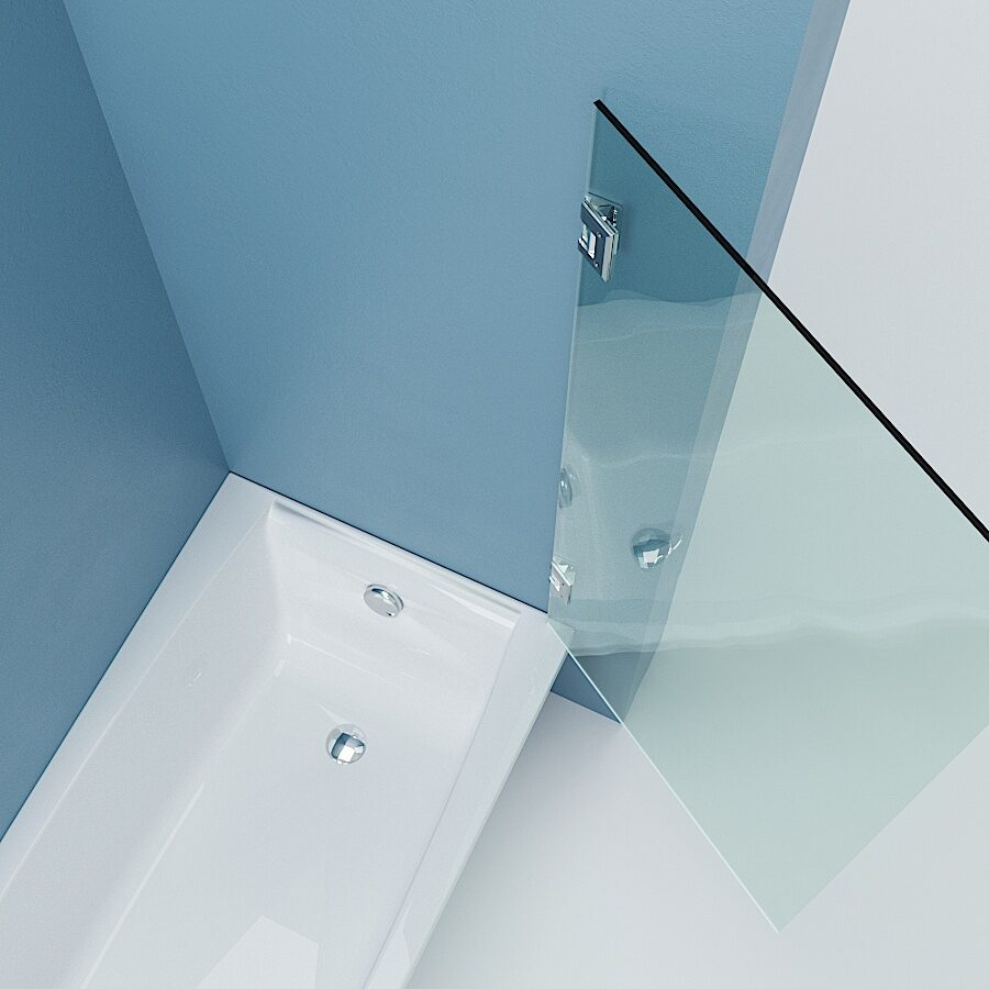 стеклянная шторка в ванну
