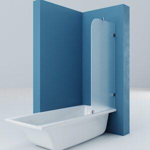 Шторка на ванну матовая