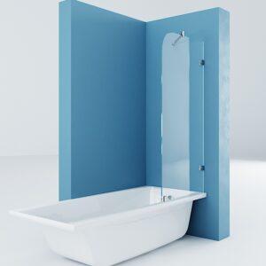Шторка на ванну стационарная (Premium)