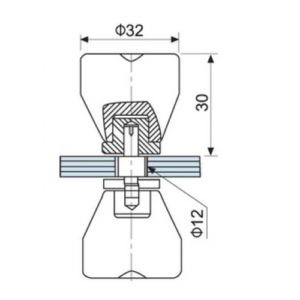 HDL-693 ручка кноб