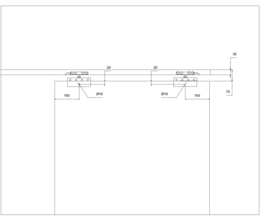 чертеж сверловки раздвижной системы