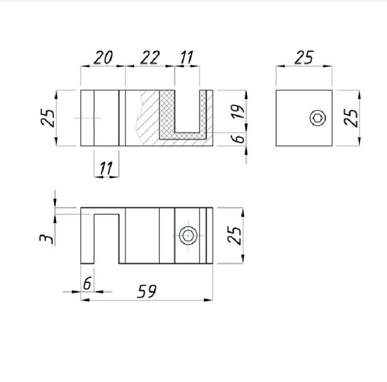 чертеж направляющего элемента