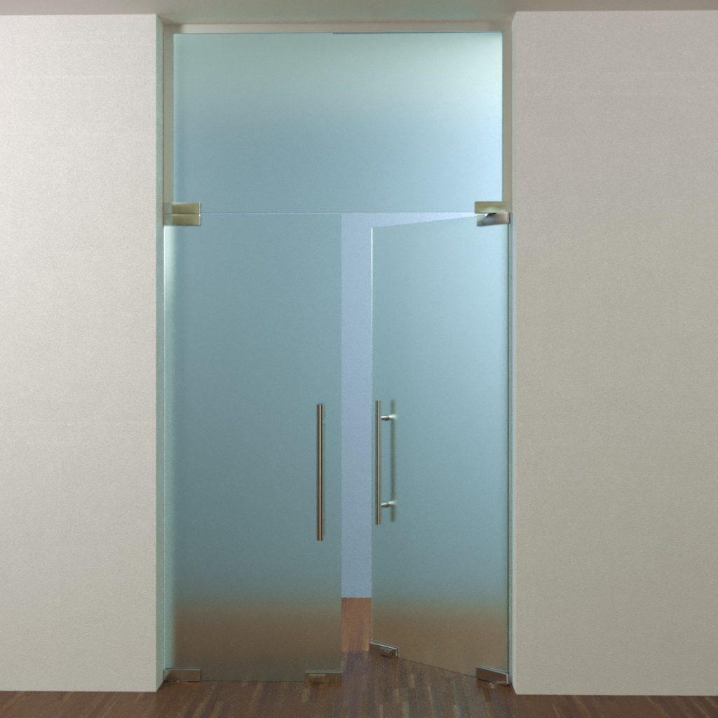 Перегородки офисные двери