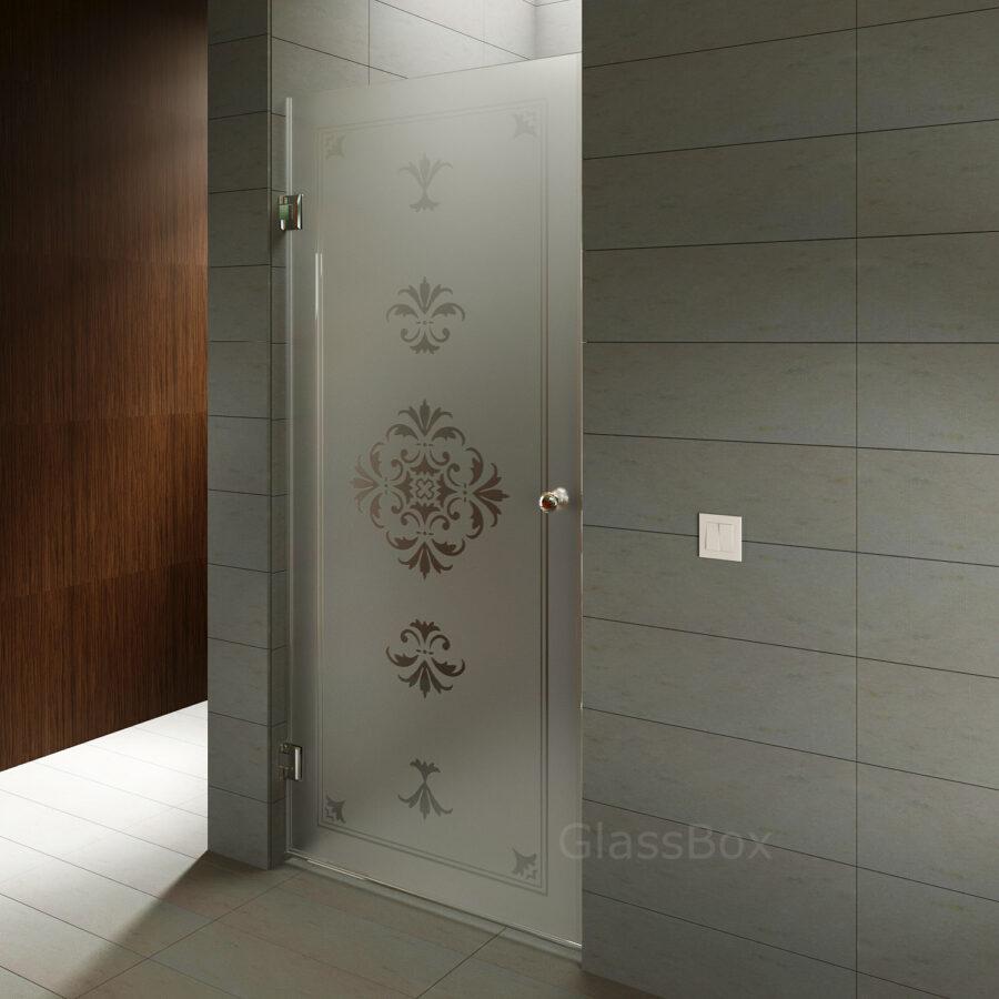 Дверь в душ матовая