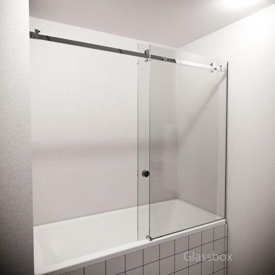 Раздвижная Стеклянная перегородка на ванну