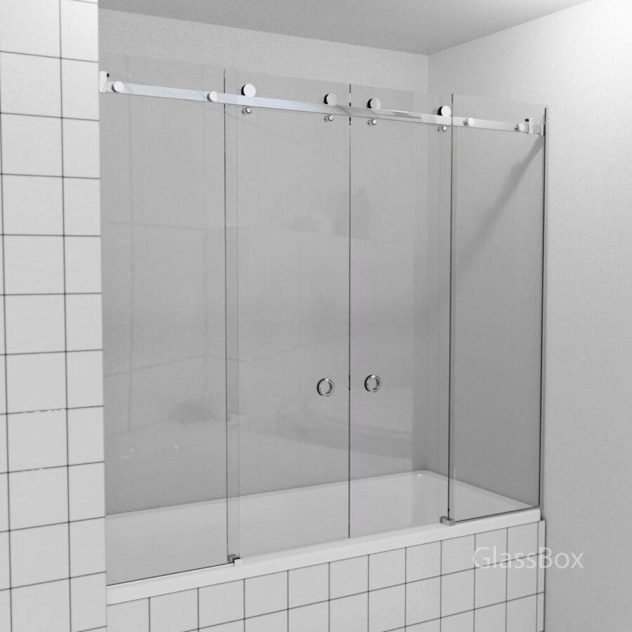 Раздвижная перегородка на ванну