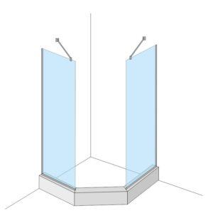монтаж стекла в душевой